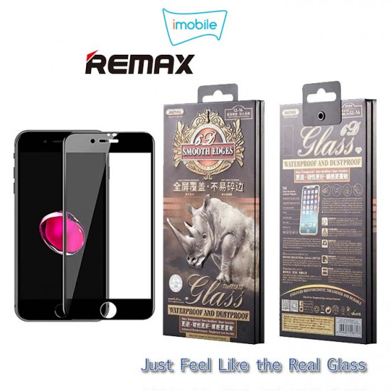 (6129) Remax Rhino Tempered Glass For iPhone 7/8 Plus [Black]